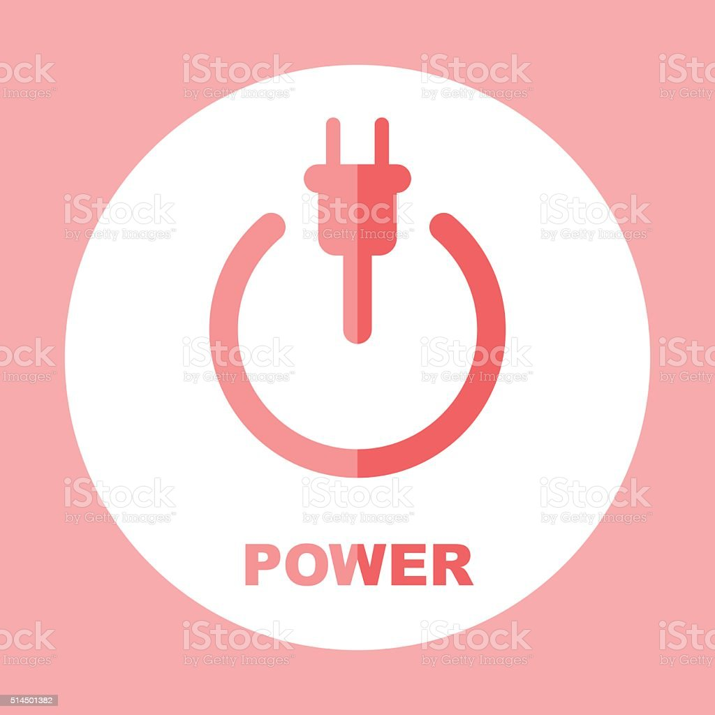 Power icon. The concept of electricity. Vector sign vector art illustration
