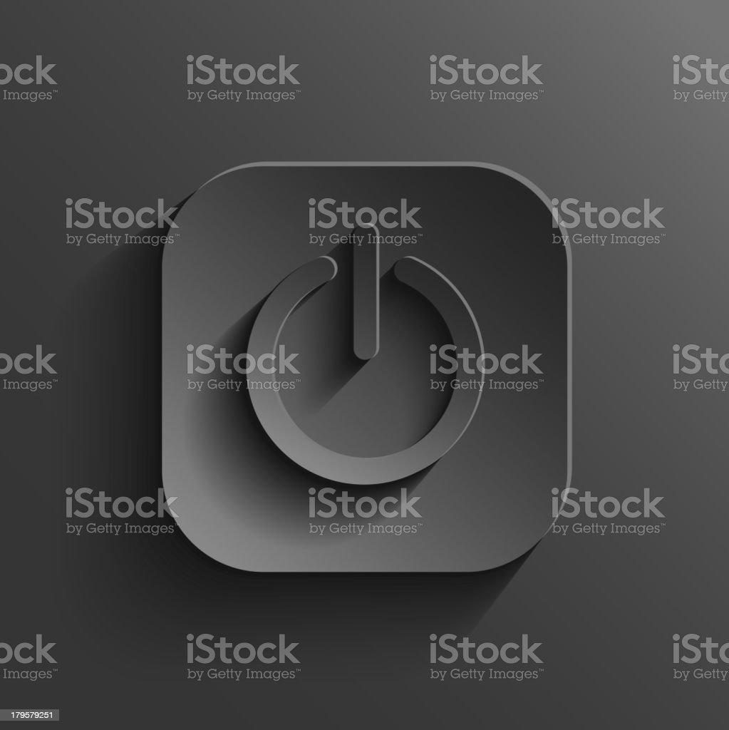 Power icon - vector black app button royalty-free stock vector art