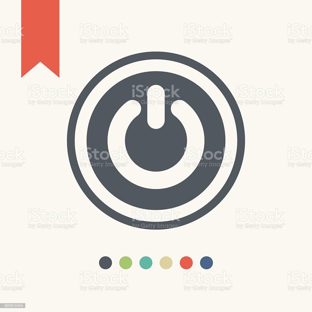 Power icon vector art illustration