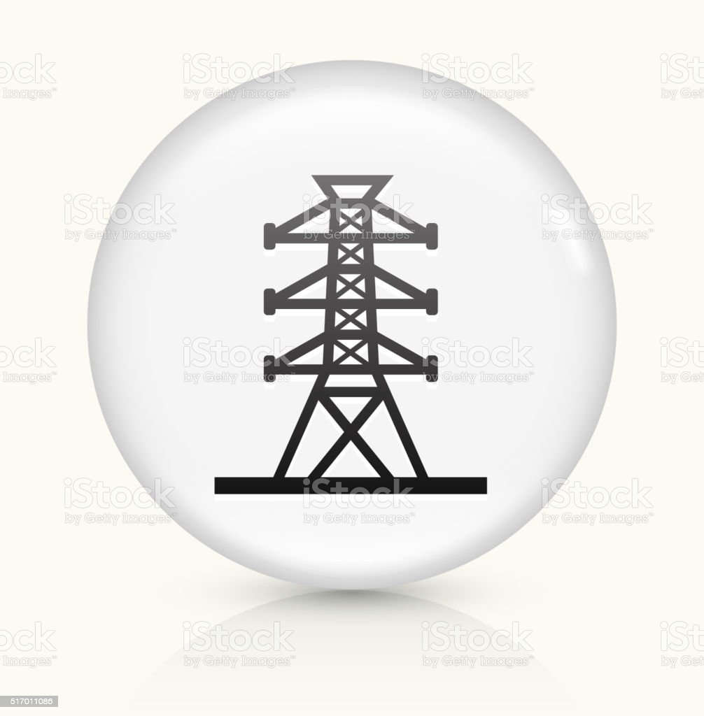 Power Line icon on white round vector button vector art illustration