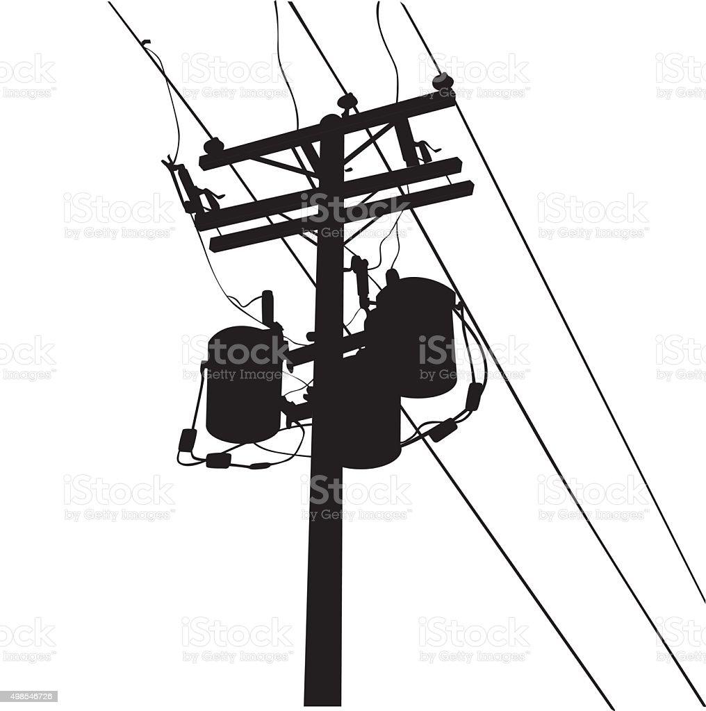 Power Lines vector art illustration