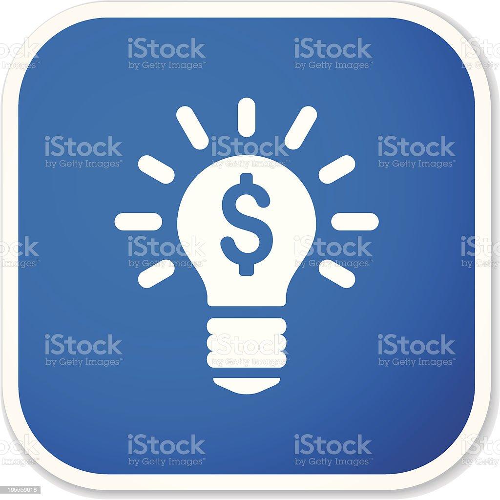 power of money sq sticker vector art illustration