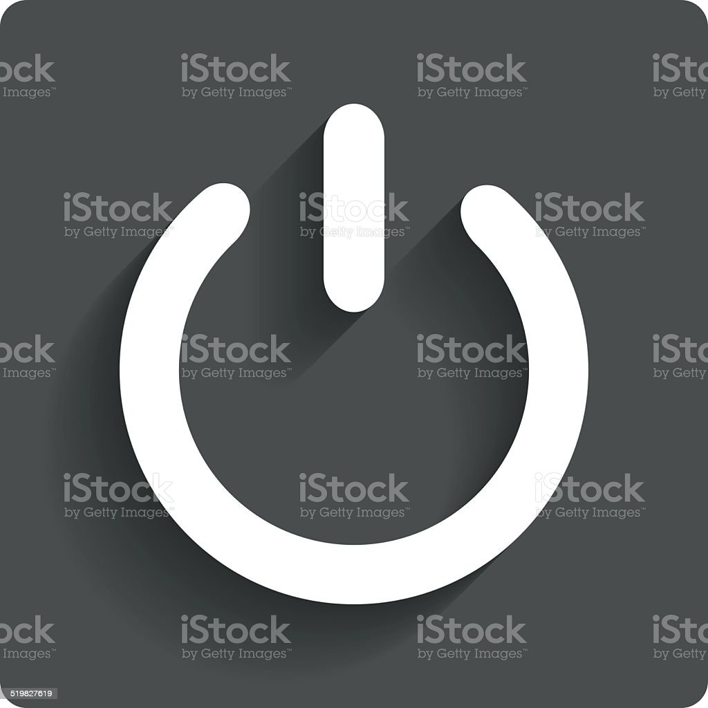 Power sign icon. Switch on symbol. vector art illustration