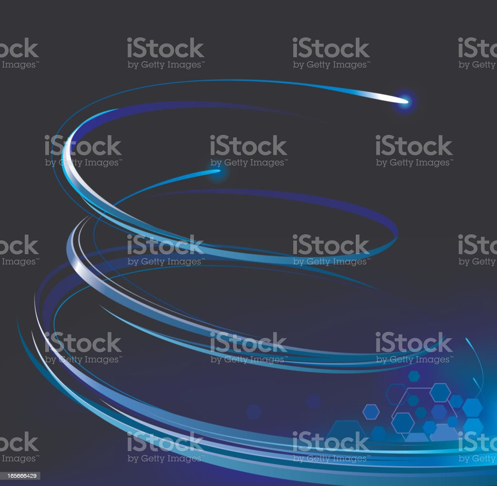 power spiral blue royalty-free stock vector art
