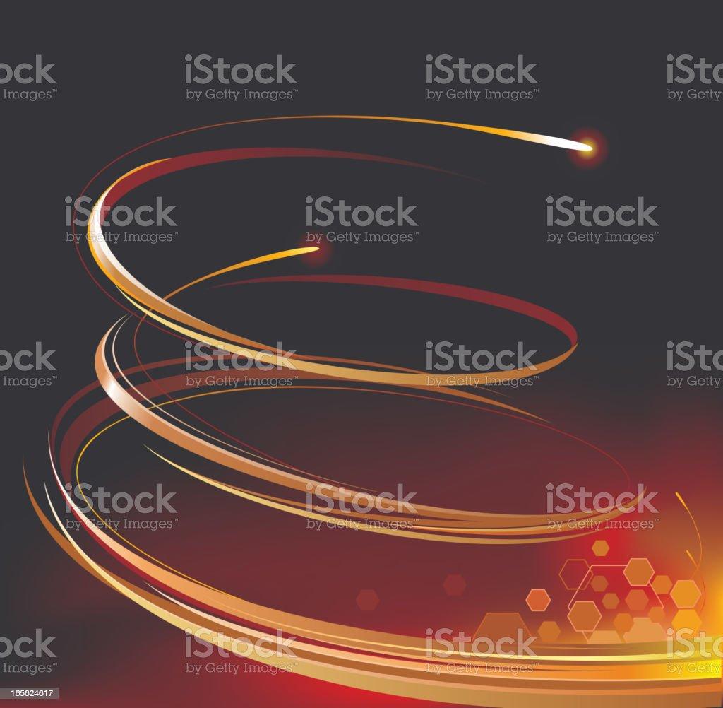 power spiral royalty-free stock vector art