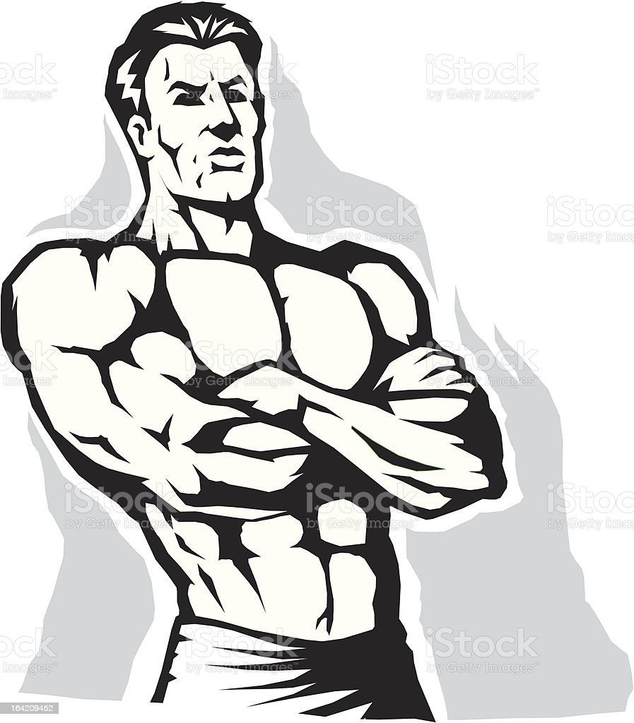 Power stance royalty-free stock vector art