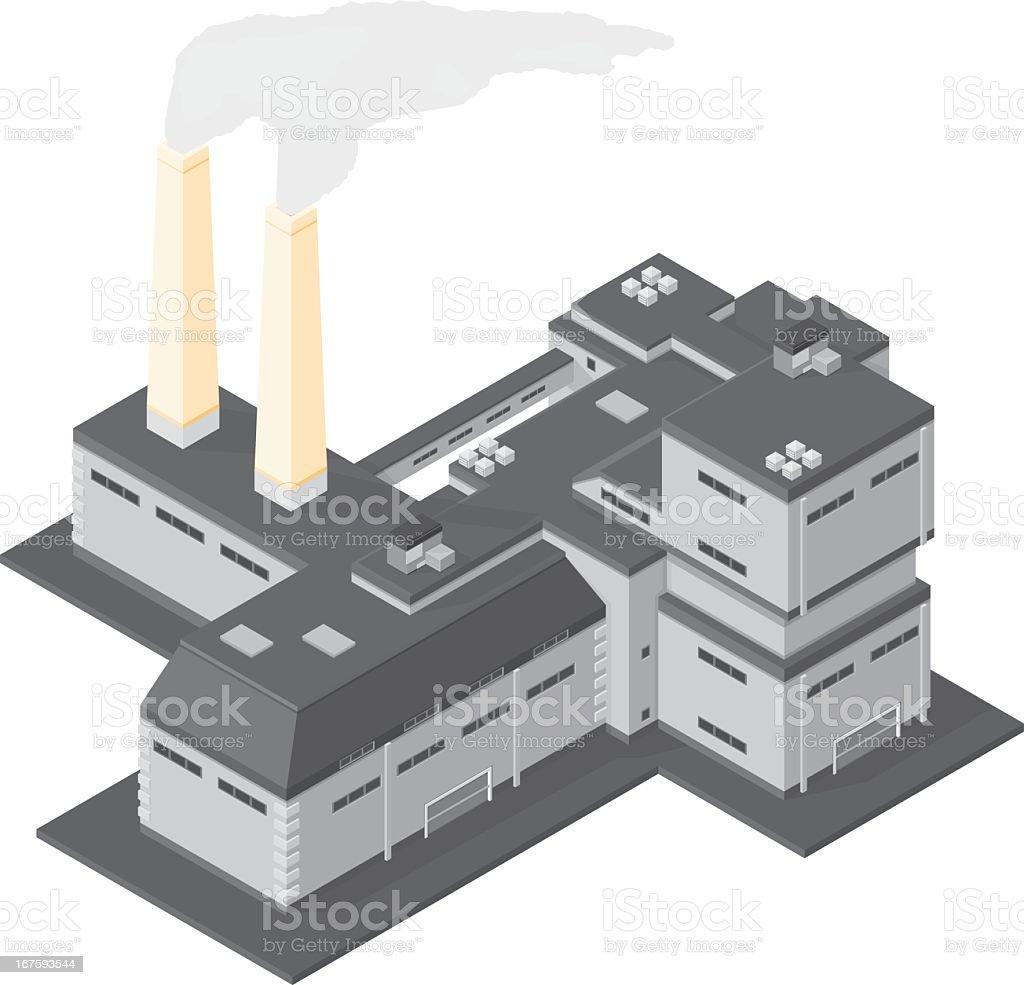 Power station vector art illustration