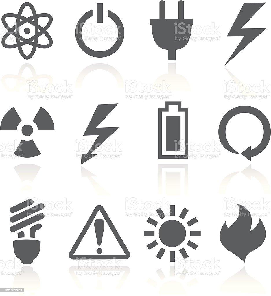 Power Symbols vector art illustration
