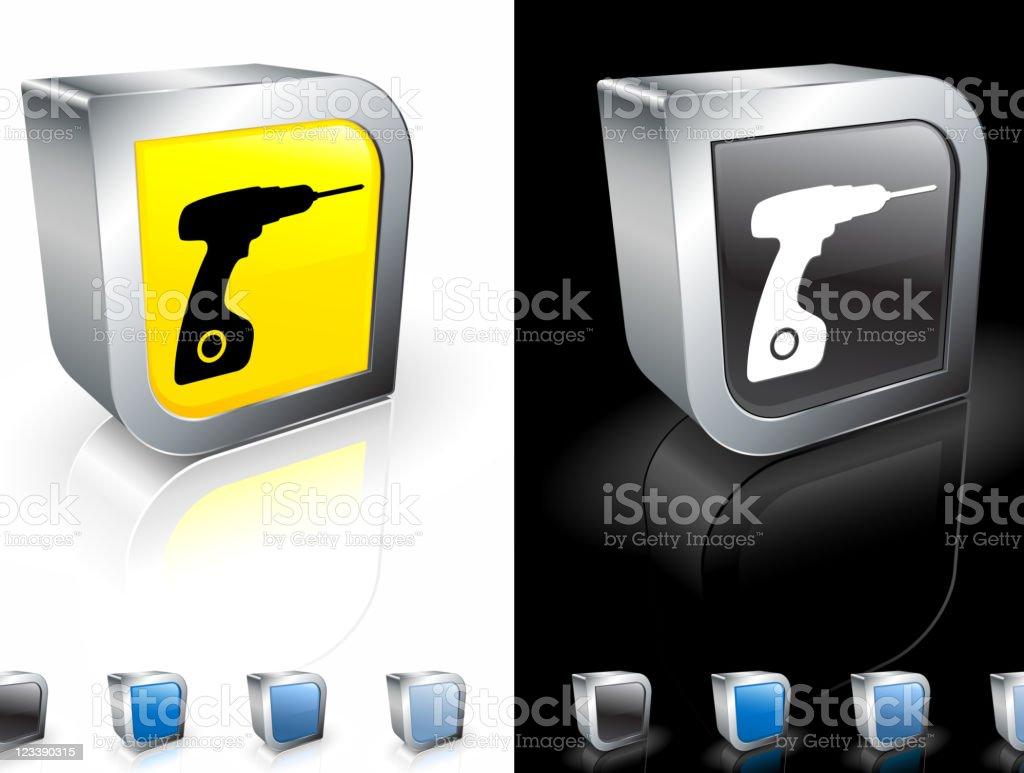 power tools: drill 3D royalty free vector art royalty-free stock vector art