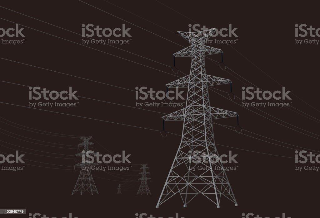 Power tower vector art illustration