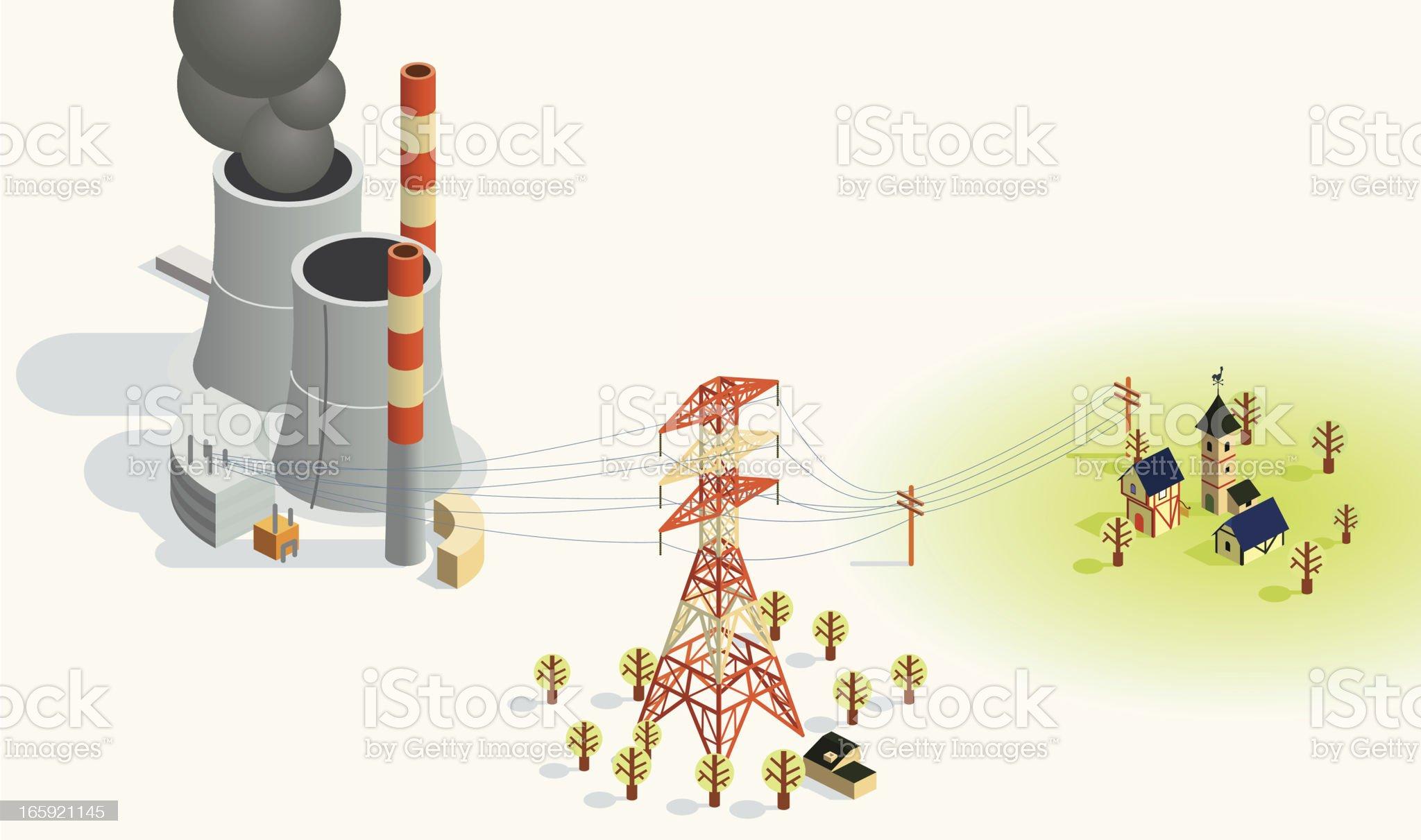 power transfer royalty-free stock vector art