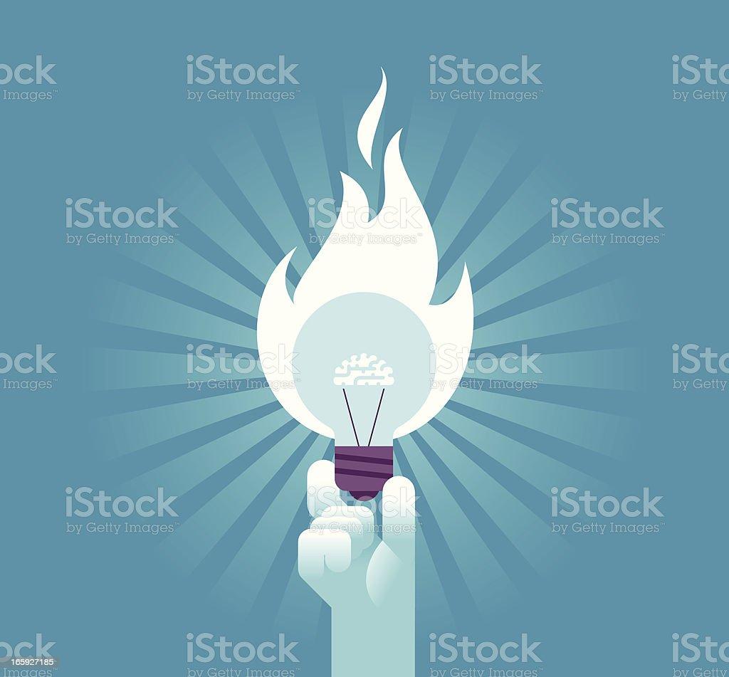 Powerful Idea vector art illustration