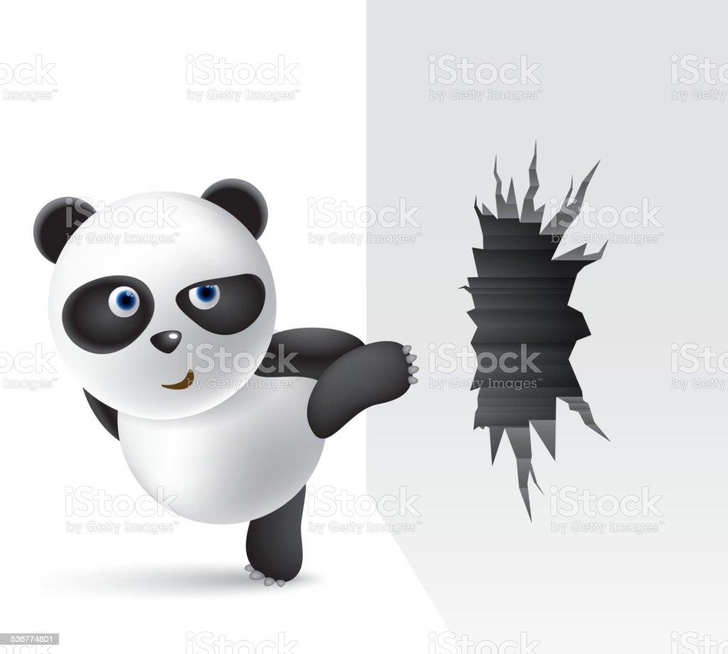 Powerful panda vector art illustration