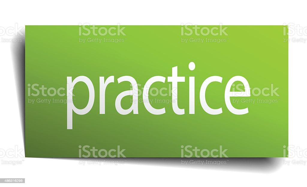 practice square paper sign isolated on white vector art illustration
