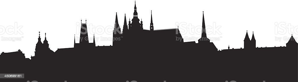 prague silhouette royalty-free stock vector art