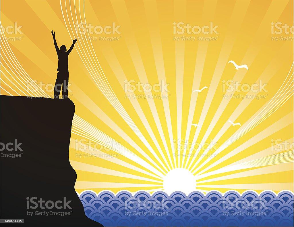 Praise Ocean vector art illustration