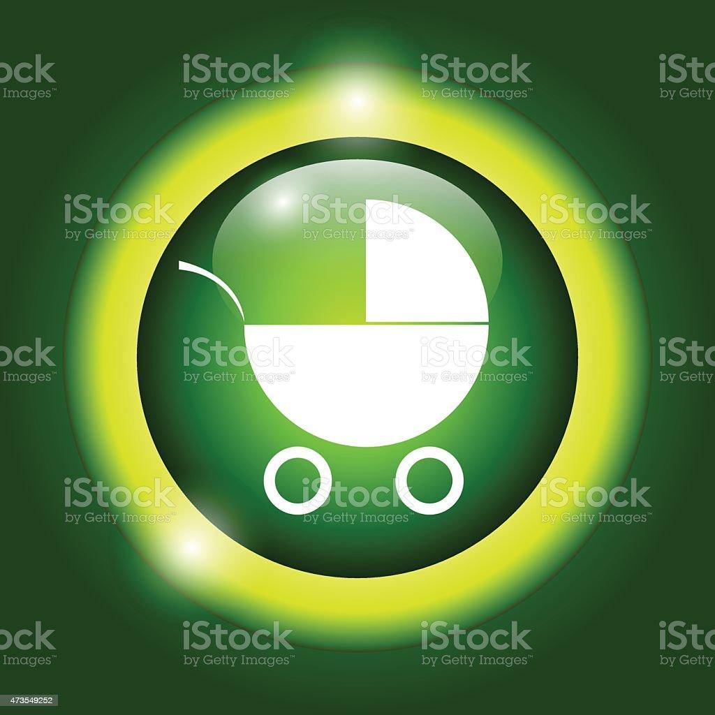 Pram icon vector art illustration