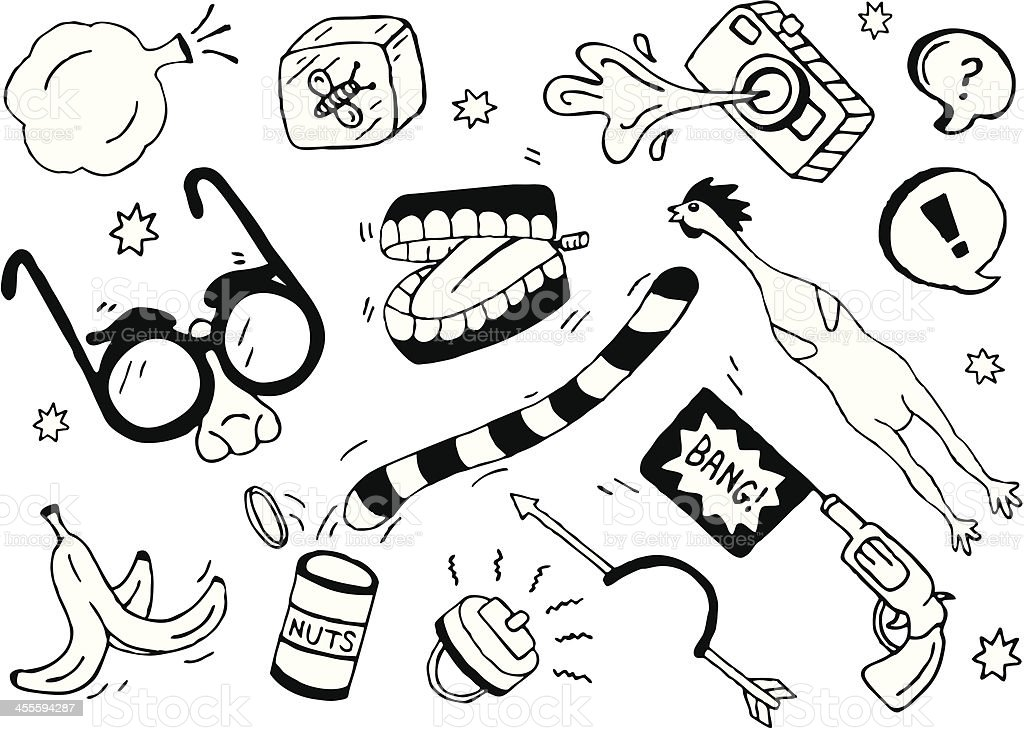Prank Doodles vector art illustration