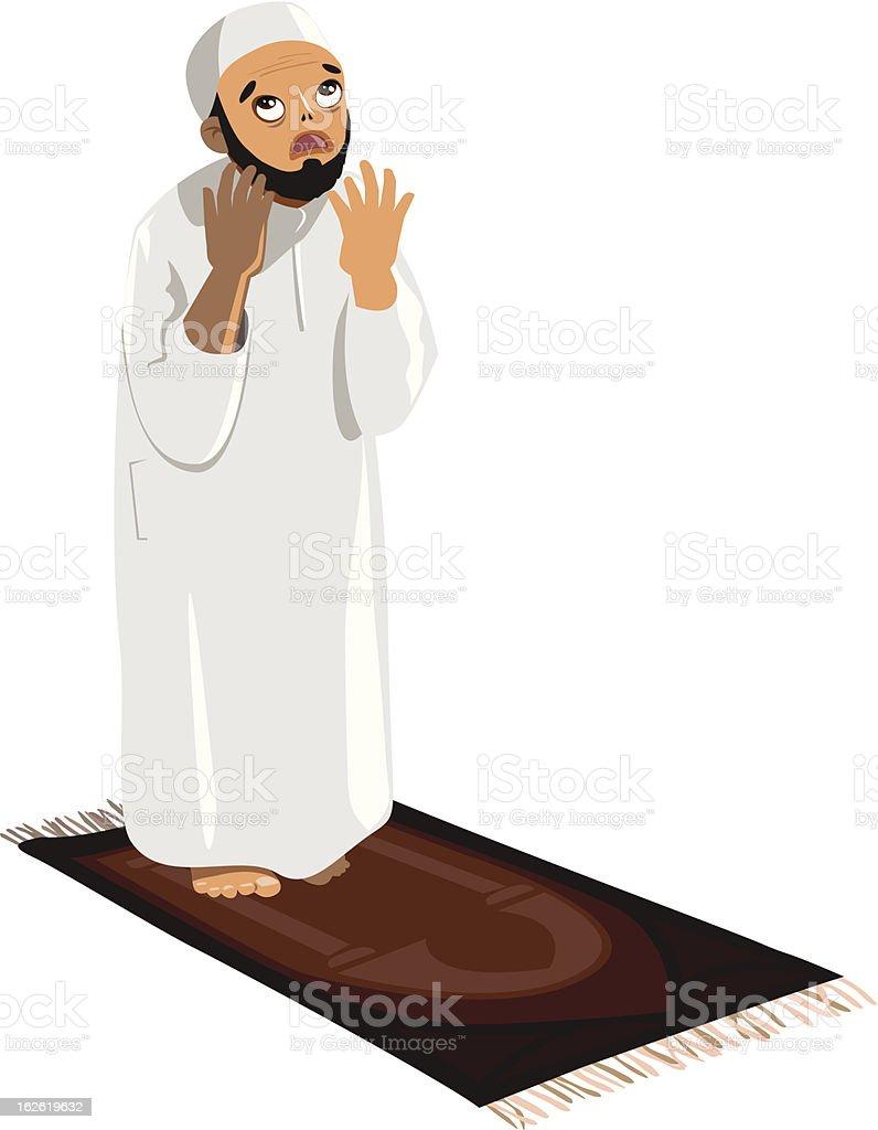 Pray to God vector art illustration