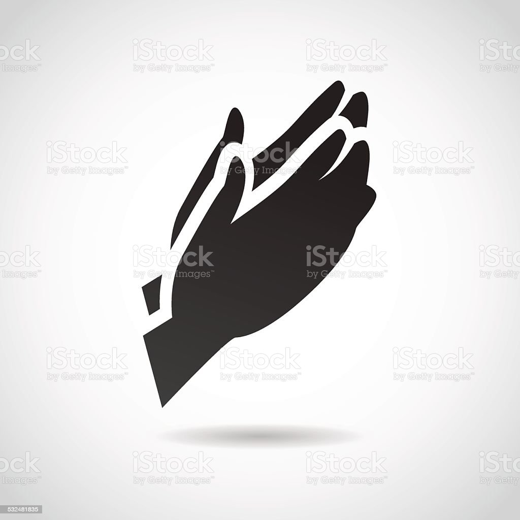 Prayer vector icon. vector art illustration