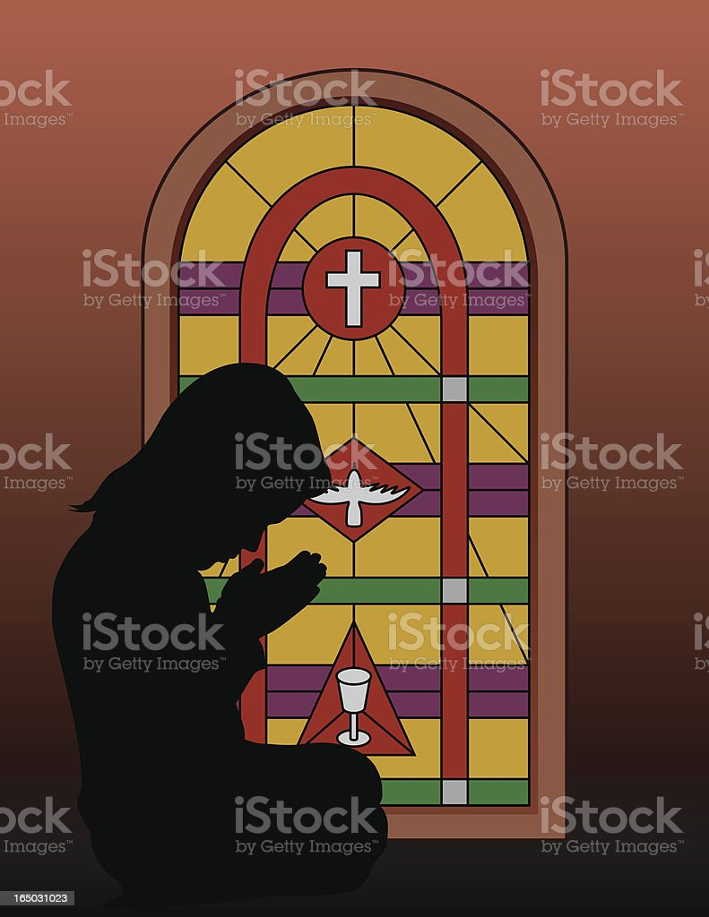 Praying Glass royalty-free stock vector art