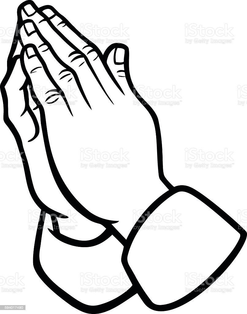 Praying Hands Illustration vector art illustration