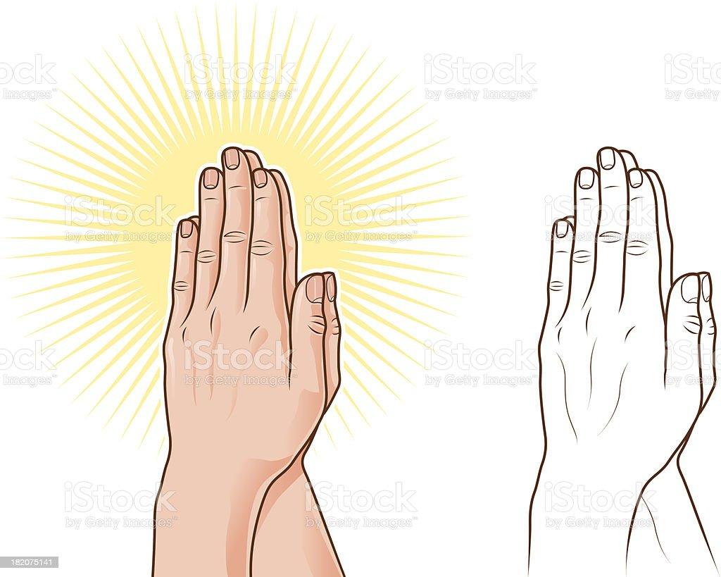 Praying hands royalty-free stock vector art