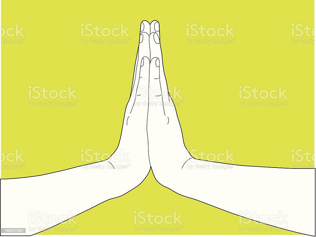 Praying royalty-free stock vector art