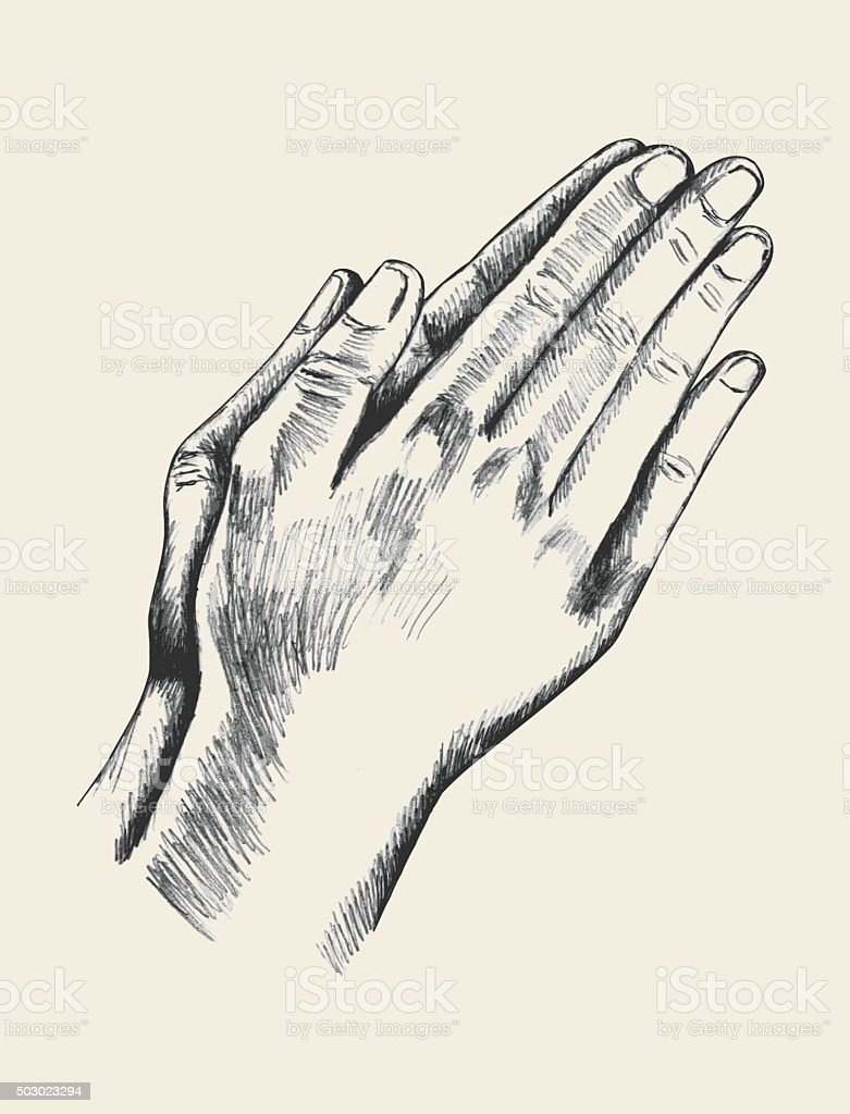 Praying vector art illustration
