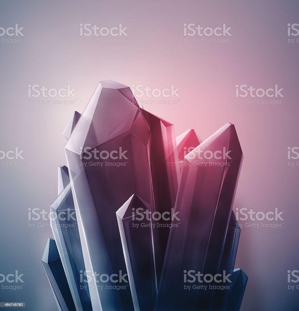 Precious Crystal vector art illustration