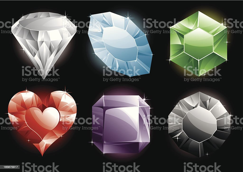 Precious Gems! royalty-free stock vector art