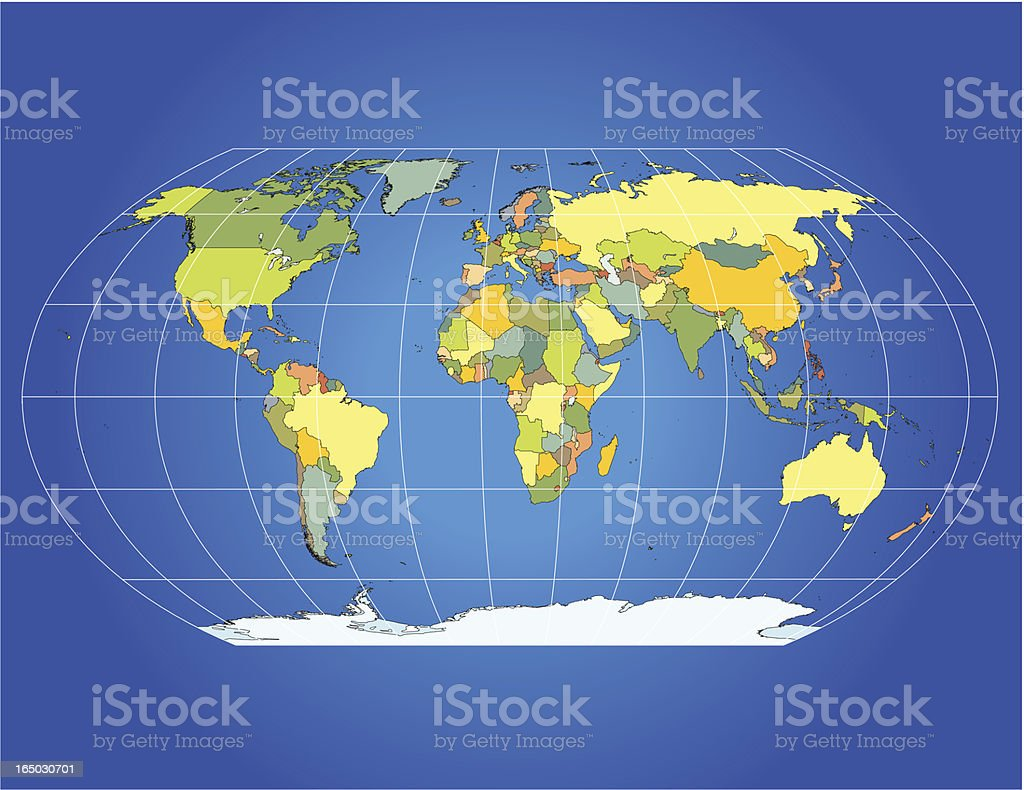 Precise World Map royalty-free stock vector art