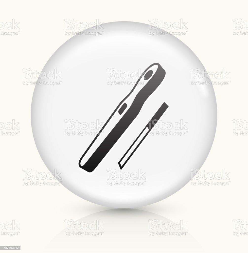 Pregnancy Test icon on white round vector button vector art illustration