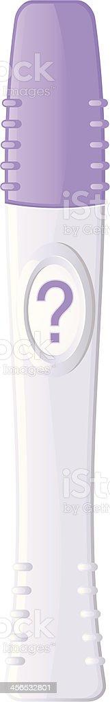 pregnancy test mystery vector art illustration