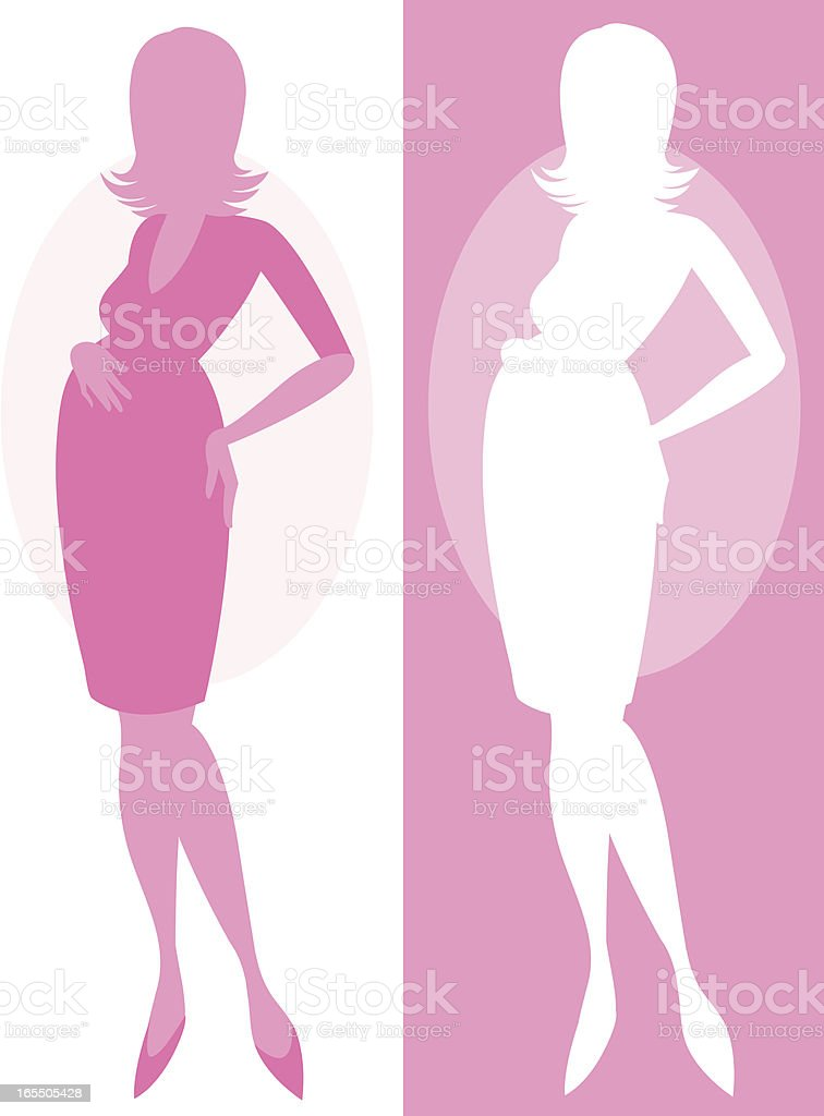 Pregnant Lady royalty-free stock vector art