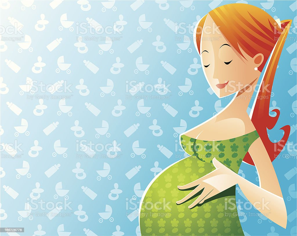 Pregnant royalty-free stock vector art