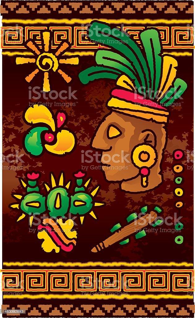 Prehispanic design elements royalty-free stock vector art