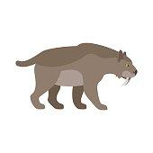 Prehistoric cartoon animal saber tiger