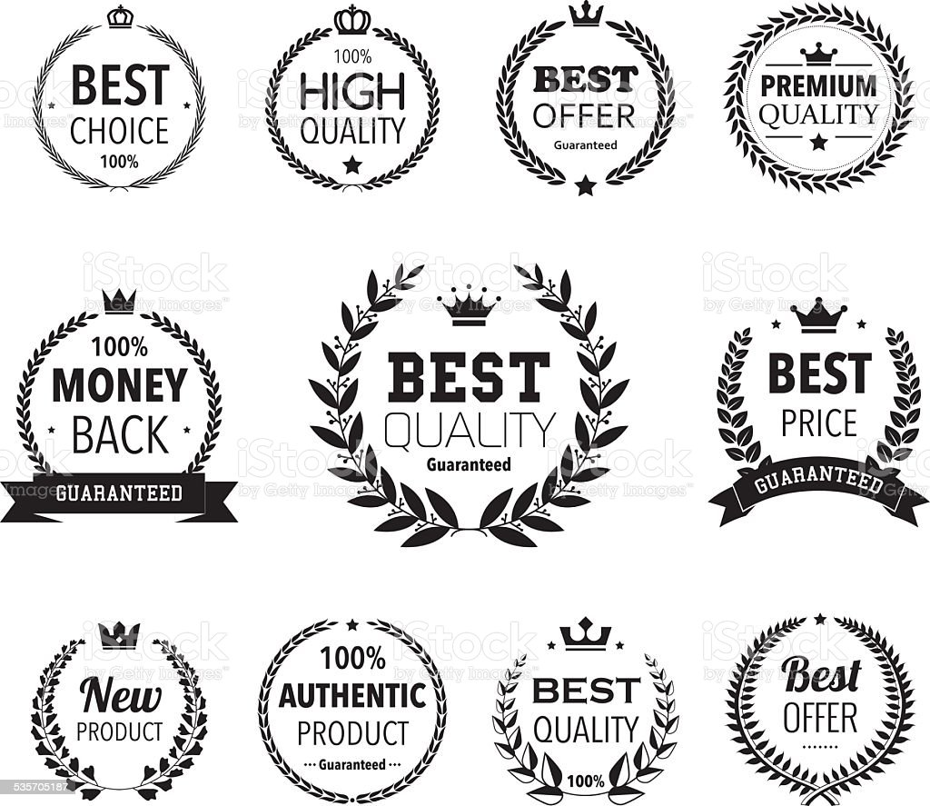 Premium and hight quality product wreaths vector art illustration