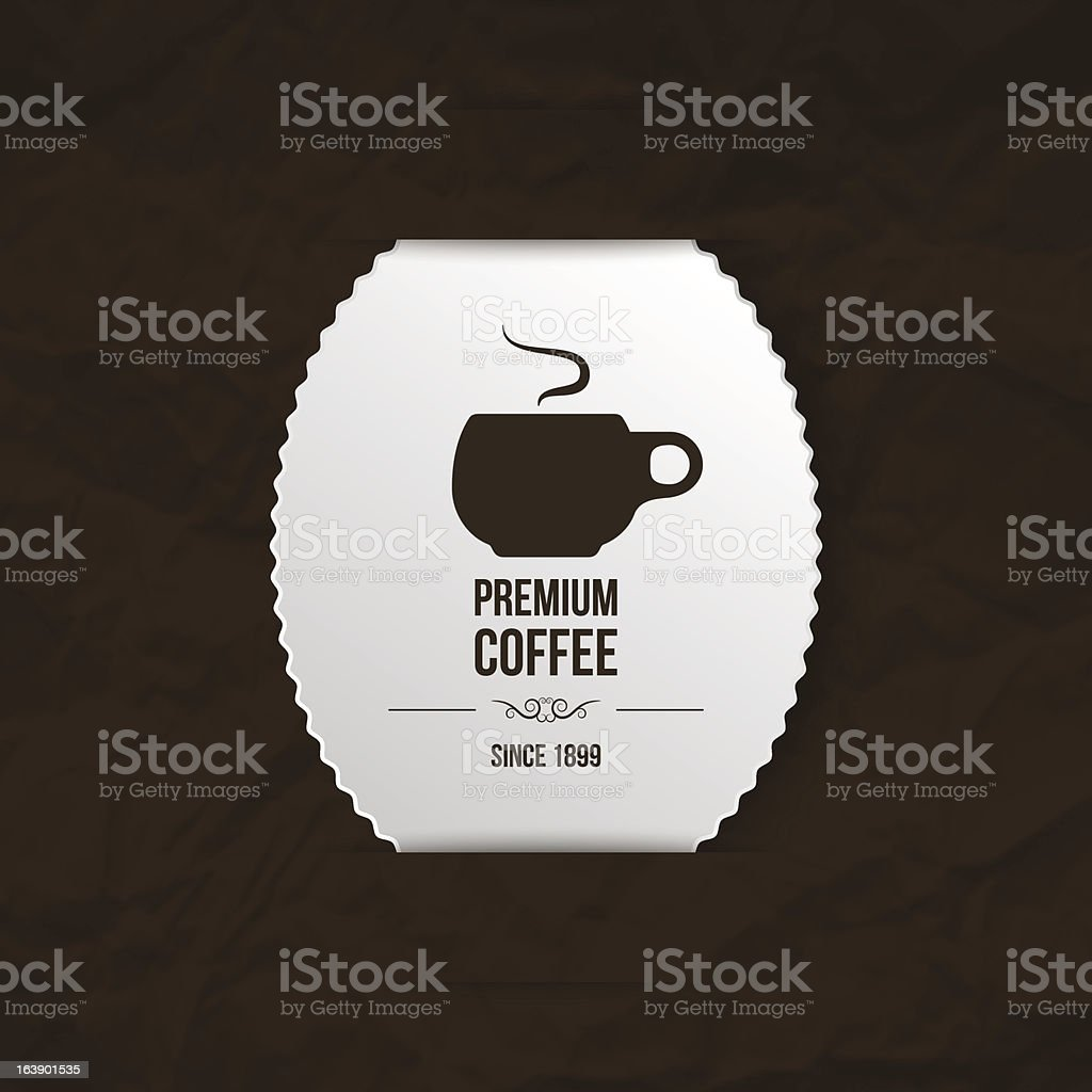 premium coffee background royalty-free stock vector art