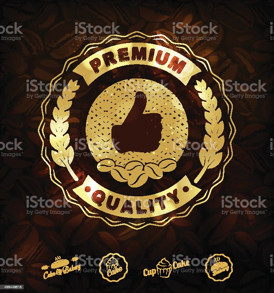 Premium coffee labels and badges Vector vector art illustration