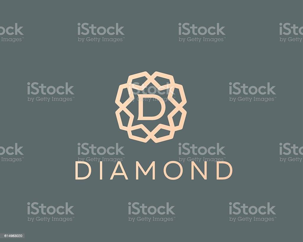 Premium letter D logo icon vector design. Luxury jewelry frame vector art illustration