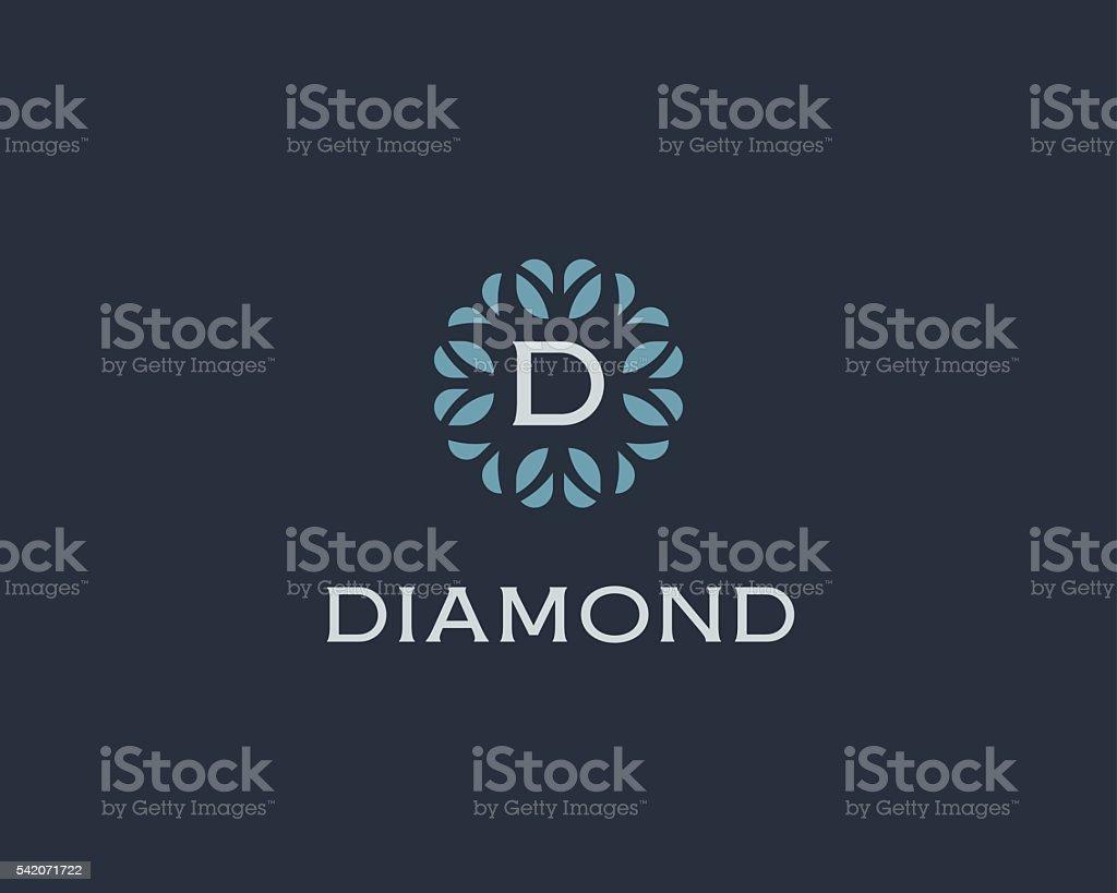 Premium monogram letter D initials logo. Universal symbol icon vector vector art illustration