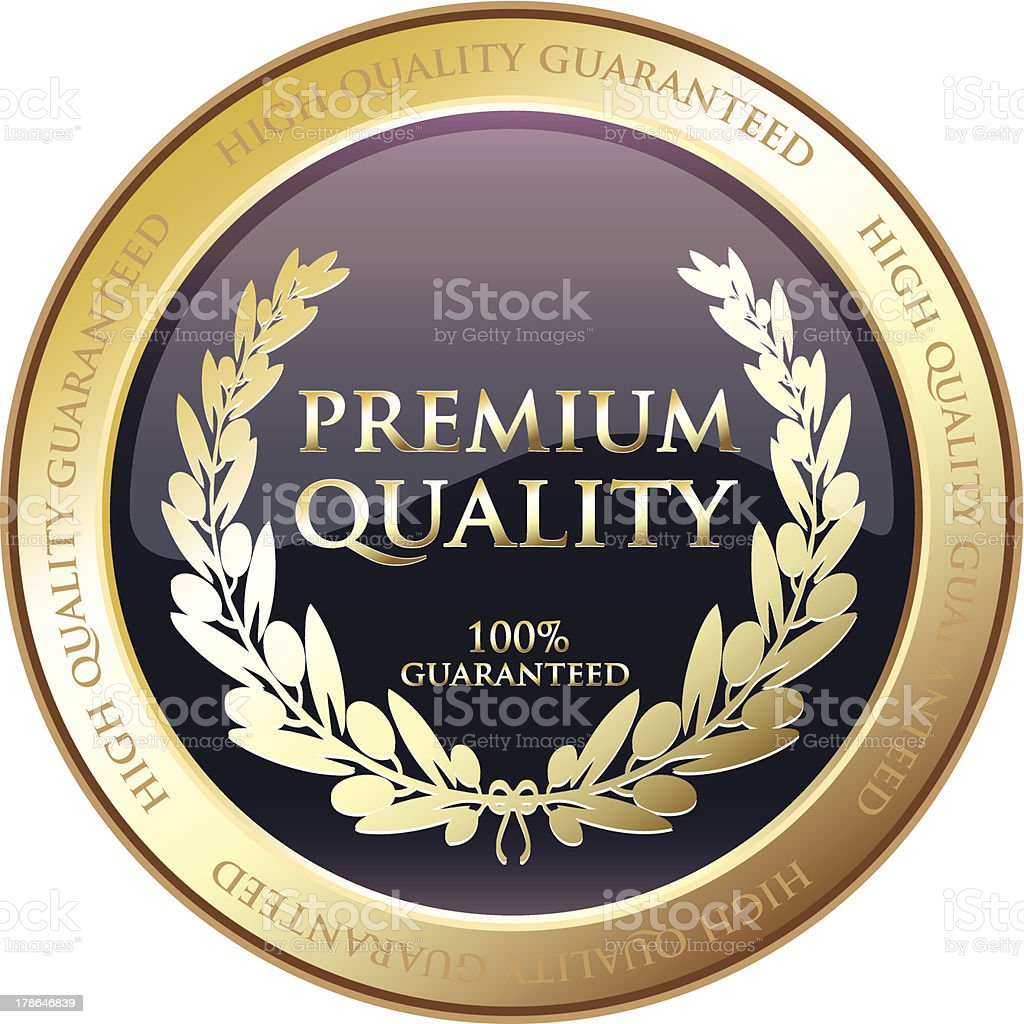 Premium Quality Award royalty-free stock vector art