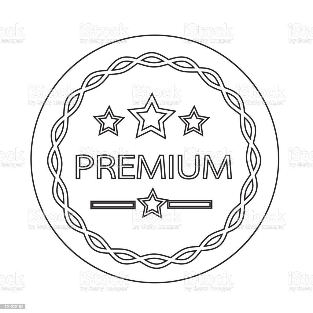 Premium Quality badge icon vector art illustration