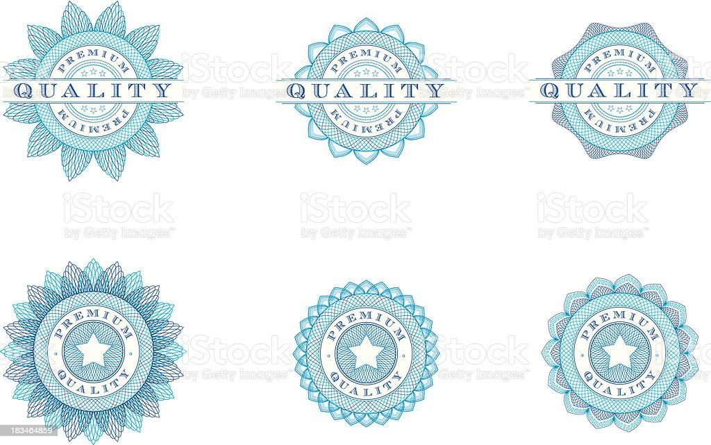 Premium Quality Badges - Vector Illustrations royalty-free stock vector art