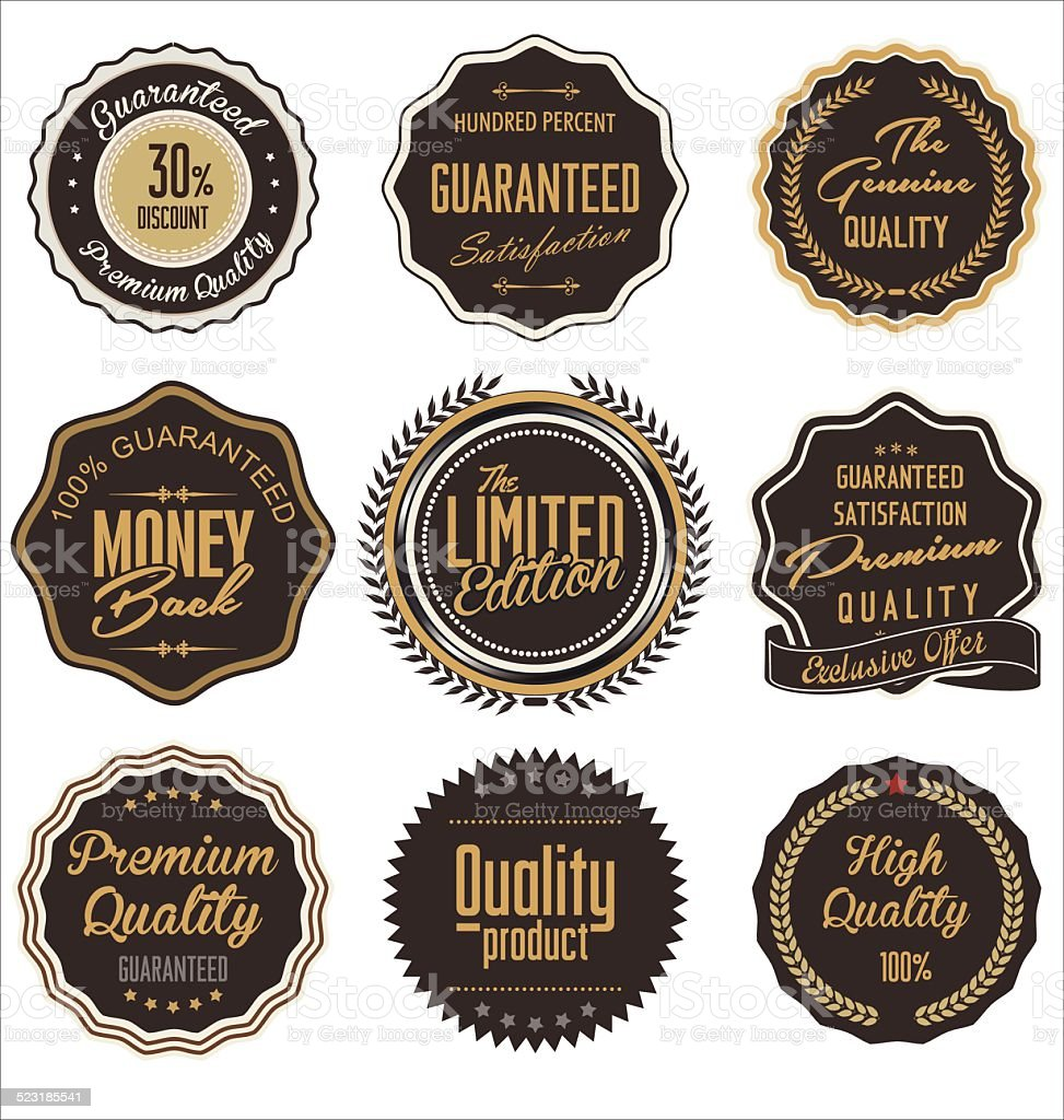 Premium quality retro labels vector art illustration