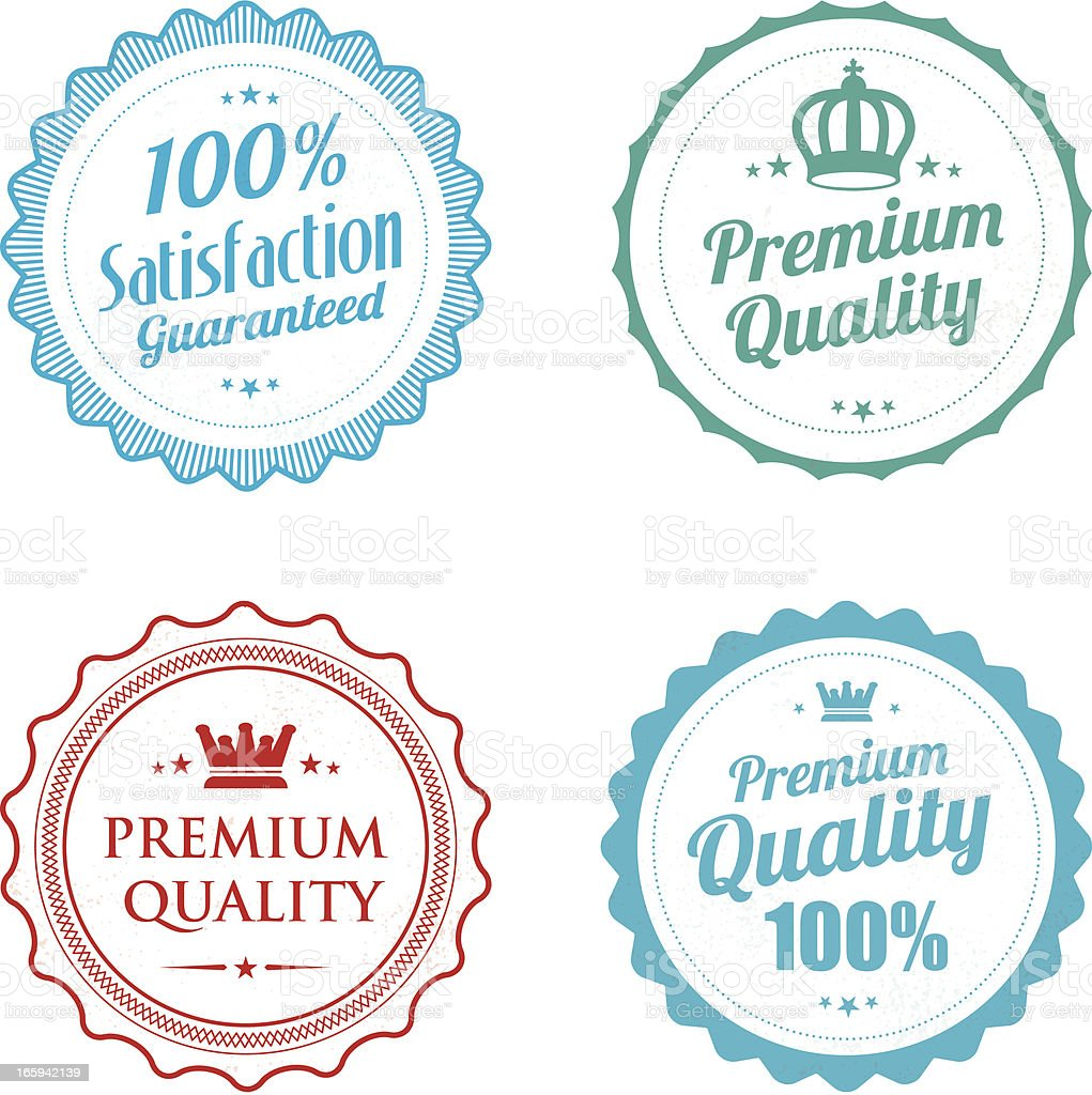Premium Quality rubber stamps royalty-free stock vector art