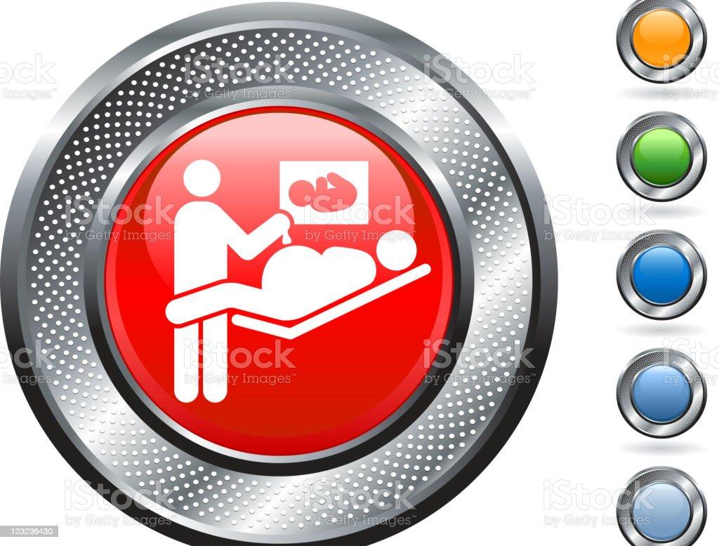 prenatal sonogram royalty free vector art on metallic button vector art illustration