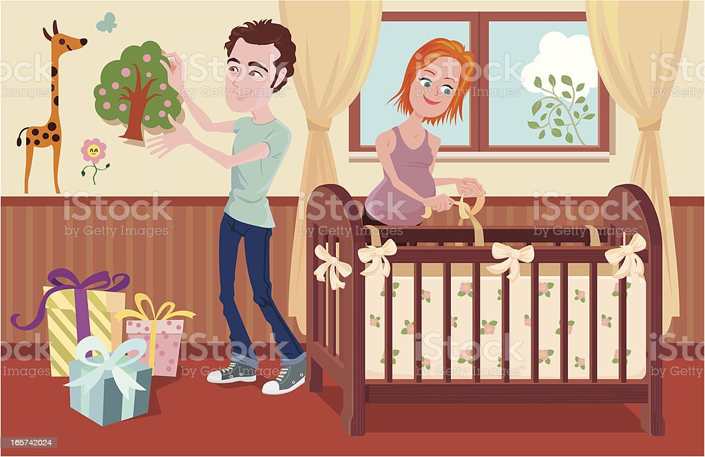 prepare for the newborn royalty-free stock vector art
